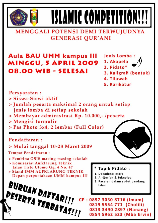 Pamplet Islamic Competition